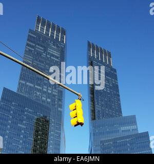 Time Warner Center skyscrapers, Columbus Circle, Manhattan, New York, America, USA - Stock Photo
