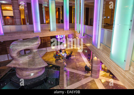 Florida, FL, South, Miami, Intercontinental, hotel hotels lodging inn motel motels, lobby, The Spindle, sculptor - Stock Photo