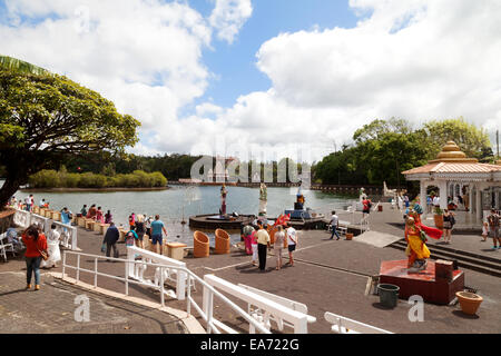 The Hindu temple at Grand Bassin lake (also known as Ganga Talao or Ganges Lake ), central Mauritius