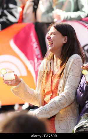 Sutton Foster and the cast of Violet perform on Today show Best of Broadway week  Featuring: Sutton Foster Where: - Stock Photo