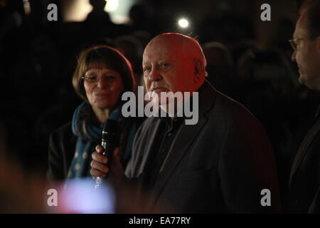 Berlin, Germany. 7th Nov, 2014. Mikhail Gorbachev, during the opening ceremony of a exhibition named 'Cold War's - Stock Photo
