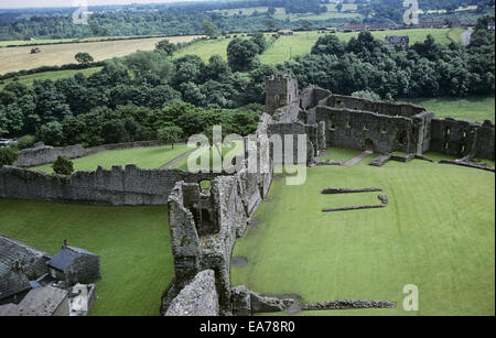 Richmond Castle, Richmond, North Yorkshire, England 690708_020 - Stock Photo