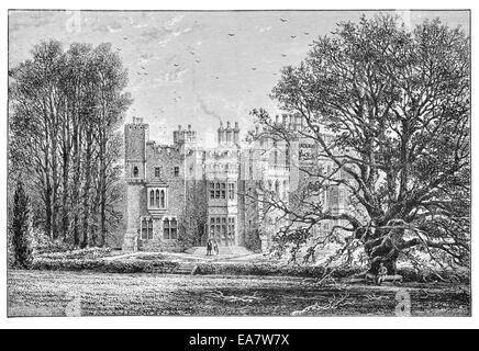 Hawarden castle Flintshire Wales British Prime Minister William Gladstone - Stock Photo