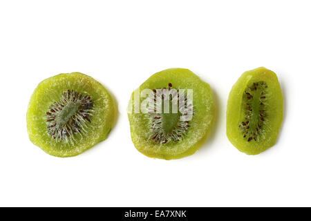 Dried kiwi isolated on white - Stock Photo