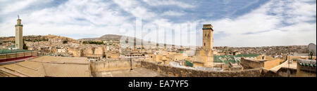 Panoramic view at Fes, Morocco - Stock Photo
