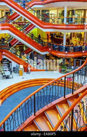Interior of Princess Square shopping centre, Buchanan Street, Glasgow, Scotland - Stock Photo