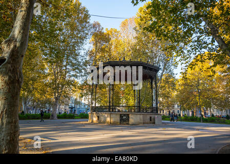Bandstand, Zrinjevac or Josip Juraj Strossmayer park and square, Zagreb, Croatia - Stock Photo
