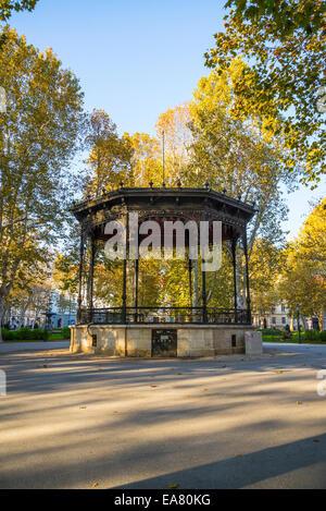 Bandstand, Zrinjevac or Josip Juraj Strossmayer park and square, Zagreb, Croatia - Stock Photo