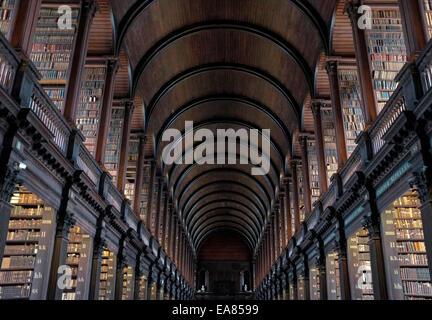 Trinity College Library, Dublin, ireland - Stock Photo
