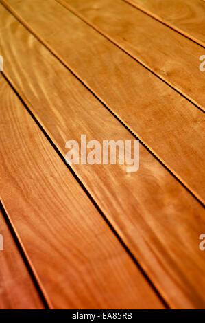 Varnished Wooden Flooring - Stock Photo
