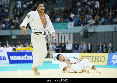 Chiba Port Arena, Chiba, Japan. 8th Nov, 2014. (L-R) Hifumi Abe, Yuki Nishiyama, NOVEMBER 8, 2014 - Judo : Kodokan - Stock Photo