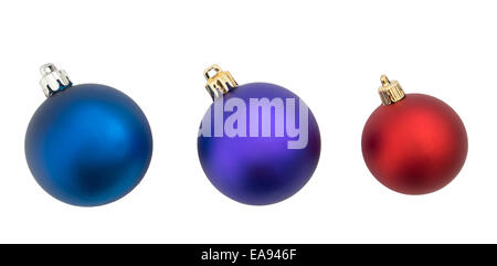 Christmas baubles isolated on white - Stock Photo