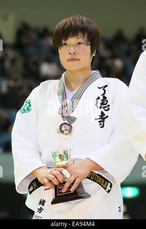 Chiba Port Arena, Chiba, Japan. 8th Nov, 2014. Akari Ogata, NOVEMBER 8, 2014 - Judo : Kodokan Cup 2014 Women's  - Stock Photo