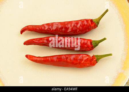 Spicy hoy red chili peppers. - Stock Photo