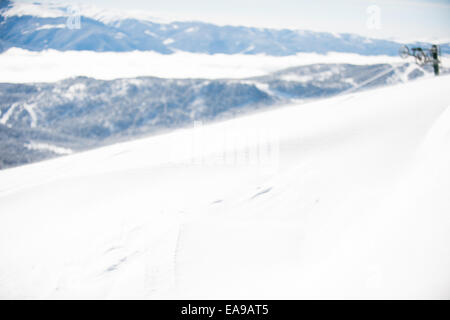 Snow drift on mountain top - Stock Photo