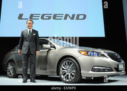 Tokyo, Japan. 10th Nov, 2014. Takanobu Ito, Japan's auato maker Honda Motor's president and CEO, poses for photograph - Stock Photo