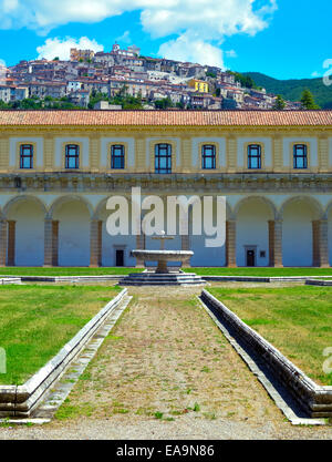 Certosa di S. Lorenzo at Padula - Italy - Stock Photo