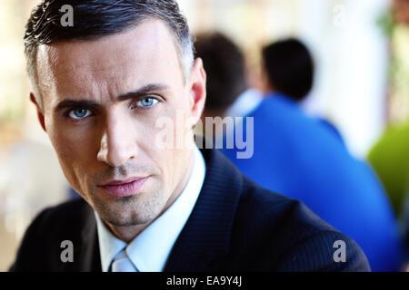 Closeup portrait of a serious businessman - Stock Photo