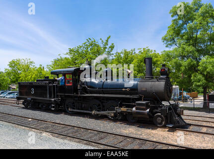 Steam locomotive Sierra No 3, Railtown 1897 State Historic Park, Jamestown, Tuolumne County, California, USA - Stock Photo