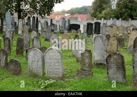 Jewish cemetery in Straznice, Hodonin district, South Moravia, Czech Republic, Europe - Stock Photo