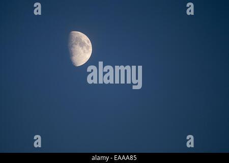 Moon on blue sky. - Stock Photo