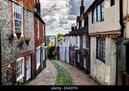 Keere Street, Lewes, Sussex, England - Stock Photo