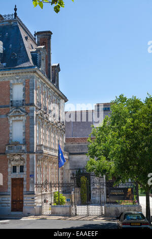 Exterior of the Courvoisier building at Jarnac - Stock Photo
