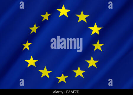 Flag of Europe - European Union - Stock Photo