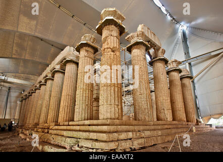 The Temple Of Apollo Epicurius Covered By A Protective ...