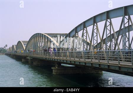 Bridge Faidherbe, Saint Louis, Senegal, Africa - Stock Photo