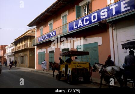 Shop on Saint Louis island, Senegal, West Africa - Stock Photo