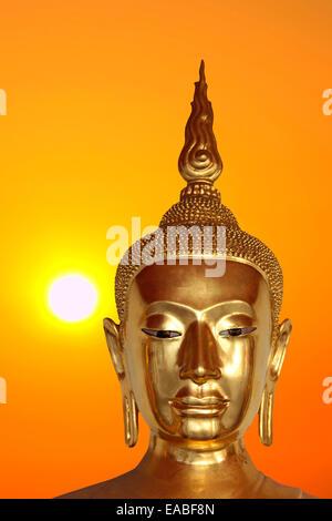 Goldener Buddha in Bangkok - Thailand - Stock Photo