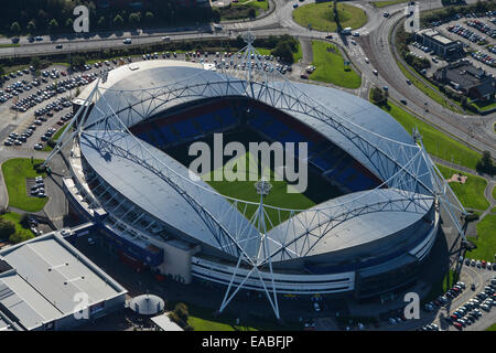 An aerial view of the Macron Stadium, home of Bolton Wanderers football club - Stock Photo