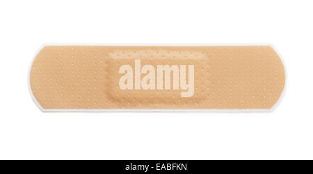 Adhesive bandage isolated on white - Stock Photo