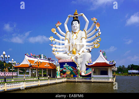 Guayin, chinese goddess with 18 arms in Ko Samui, Thailand - Stock Photo