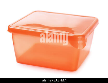 Plastic food container isolated on white - Stock Photo