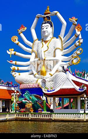 Ganesha, Indian God, 18 arms, Ko Samui, Thailand - Stock Photo