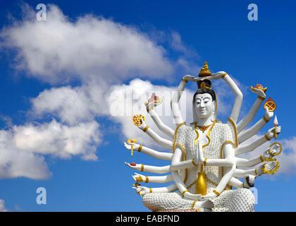 Guayin, chinese goddess with 18 arms - Stock Photo