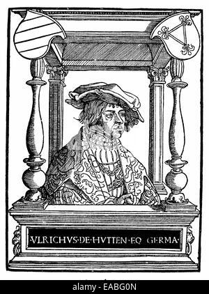 Ulrich von Hutten, 1488 - 1523, humanist,  Ulrich von Hutten (1488 - 1523), Humanist, - Stock Photo