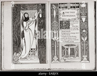 Page decoration from John Gray's Spiritual Poems by Charles de Sousy Ricketts. - Stock Photo