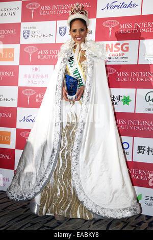 Tokyo, Japan. 11th Nov, 2014. Miss Puerto Rico Valerie Hernandez Matias, November 11, 2014, Tokyo, Japan. The pageant - Stock Photo