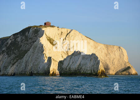 The Needles, Isle of Wight, England, United Kingdom - Stock Photo