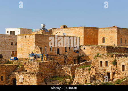 Turkey Anatolia South East Anatolia Mardin Province Old town of Midyat - Stock Photo