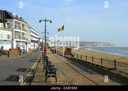 Beachfont esplanade, Sandown, Isle of Wight, England, United Kingdom - Stock Photo