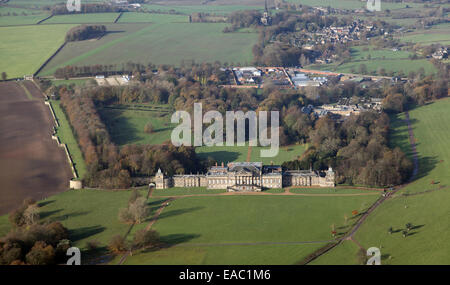 aerial view of Wentworth Woodhouse country house near Rotherham, South Yorkshire, UK - Stock Photo
