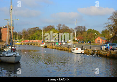 Little London Quay, River Medina, Newport, Isle of Wight, England, United Kingdom - Stock Photo