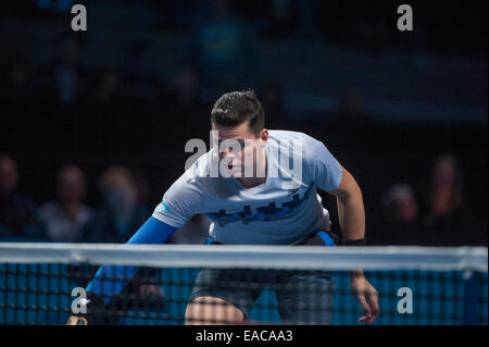 O2 arena, London, UK. 11th November, 2014. Barclays ATP round robin match, singles players Andy MURRAY (GBR) vs - Stock Photo