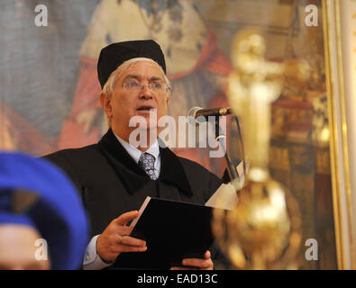 Olomouc, Czech Republic. 12th Nov, 2014. Professor of music and chair of the Music Department at New York University - Stock Photo