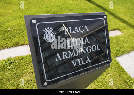 Consell General, Placa Lidia Armengol Vila, Andorra la Vella, capital city of Andorra, Andorra - Stock Photo
