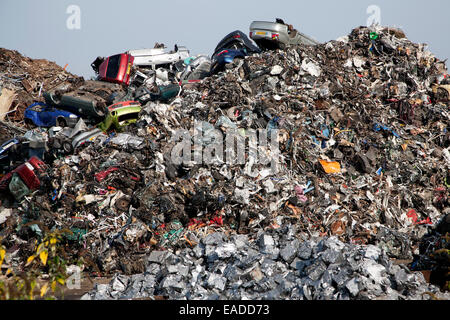 Scrap metal recycling EMR company, Swindon, England, UK - Stock Photo